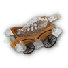 CARRIAGE SUPPORT+6 GLASS+GRAPE BOTTLE